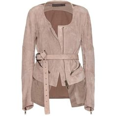Haider Ackermann Suede Jacket ($2,180) ❤ liked on Polyvore featuring outerwear, jackets, coats, haider ackermann, suede, neutrals, suede leather jacket, brown jacket, brown suede jacket и suede jacket