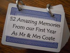 A DIY 1st Anniversary Gift.....52 Memories