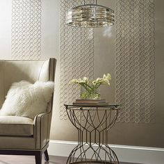 Candice Olson Dream On. Embroidered Circles Wallpaper