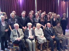 Group photo at the funeral of Denys Ebel
