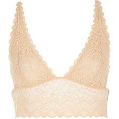 Beige longline lace bra top £14.00