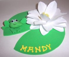 How to make Name Setting - Water Lilly  - DIY Craft Project from Craftbits.com