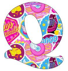 Alfabeto Roller Skate Soy Luna.