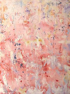 "Abstract Painting    Precious In Pink, 40""X30"", oil on canvas, 2010"