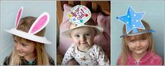 Cute hats made out of plates