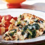 Spinach Chicken Alfredo Pizza Recipe, Dinner tonight.  I always add fresh mushrooms too.