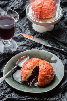 Cervelles de Zombies Vanille & Fraise {dessert pour Halloween}