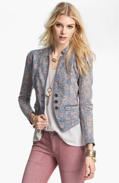 Free People Floral Print Blazer available at Nordstrom 128.00, cheaper at piperlime