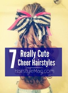 7 Really Cute Cheerleader Hairstyle Ideas for your next game, pep rally or compe. 7 Really Cute Ch Cheerleading Workouts, Cheer Tryouts, Football Cheer, Cheer Coaches, Cheer Mom, Cheer Stuff, Cheerleading Bows, Volleyball Drills, Cheer Gifts