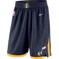 Men's Utah Jazz Nike Navy Icon Edition Swingman Shorts is in stock now at NBA Store and Guaranteed Authentic. Chino Hills Basketball, Usc Basketball, Nike Basketball Socks, Basketball Shorts Girls, Best Basketball Shoes, Basketball Uniforms, Basketball Legends, Basketball Scoreboard, Basketball Shooting