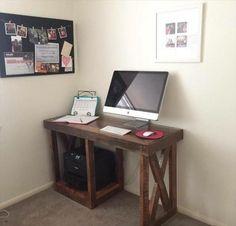 Pallet Study / Computer Desk - 125 Awesome DIY Pallet Furniture Ideas | 101 Pallet Ideas - Part 8