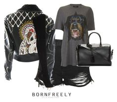 """""""Untitled #1146"""" by bornfreely on Polyvore featuring Topshop, Versace, Givenchy, Gianvito Rossi and Yves Saint Laurent"""