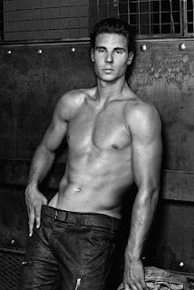Rafael Nadal shirtless in jeans for Armani..