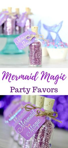 Mermaid Birthday Party Favors | Under the Sea Party | Mermaid Party Supplies