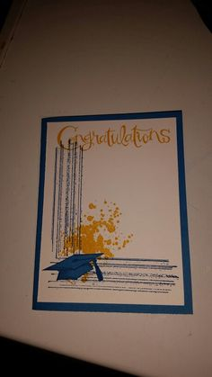 Graduation Card with Stampin' Up!