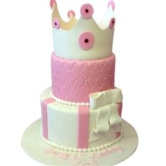 Pretty in Pink Princess Birthday Cake. This multi occasion cake can be used for Sweet Sixteens, Bat Mitzvah, Confirmations, Baptisms and Birthday's. Available in many different size configurations. Nut Free Cakes. Delivery in Toronto and surrounding areas.
