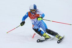 DAY 15:  Tanja Poutiainen of Finland competes during the Alpine Skiing Women's Slalom http://sports.yahoo.com/olympics