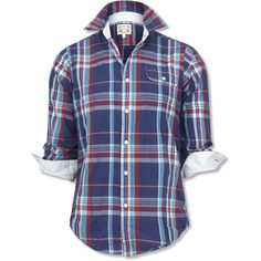 Gant by Michael Bastian Colorful Plaid Contrast Button Down