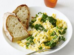 Scrambled Eggs with Ricotta and Broccolini: Add brocolini to these creamy and cheesy scrambled eggs for a hearty family breakfast.