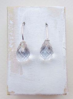oorbellen zilver met bergkristal