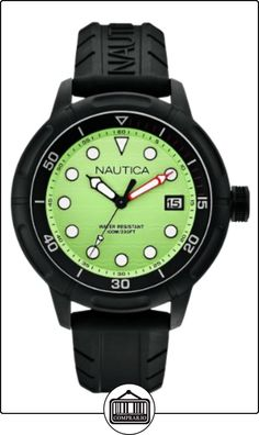 Nautica A17618G - Reloj analógico de cuarzo para hombre, correa de silicona color negro de  ✿ Relojes para hombre - (Gama media/alta) ✿