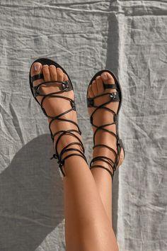 Flat Σανδάλια Lace Up - LUIGI Luigi, Birkenstock Mayari, Flats, Sandals, Lace Up, Shoes, Products, Fashion, Loafers & Slip Ons