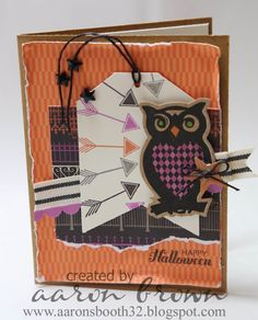 Booth #32: Pin Inspired Halloween Card #ScaredyCat