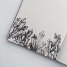 Dotwork Crystal by Instagram.com/ShinokiAreno Crystal Pen, Crystal Tattoo, Crystal Illustration, Illustration Art, Amazing Drawings, Art Drawings, Crystal Drawing, Stippling Art, Hand Lettering Fonts