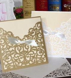Cheap envelop paper, Buy Quality seal pack directly from China seal opener Suppliers: Square Laser Cut Lace Flower Invitations Cards Engagement Wedding Birthday Graduation Anniversary Envelopes Inner Card Square Wedding Invitations, Wedding Invitation Samples, Wedding Favors, Laser Cut Invitation, Flower Invitation, Lace Flowers, Wedding Flowers, Lace Bows, Engagement Invitation Cards