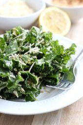 A fresh, summery kale salad with parmesan cheese, toasted breadcrumbs and a simple lemon vinaigrette. Quinoa Salad Recipes, Vegetarian Recipes, Cooking Recipes, Healthy Recipes, Kale Recipes, Quinoa Benefits, Berry, Recipes, Salads