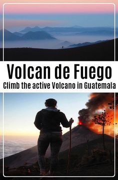 Volcán de Fuego is an one hour bus ride from Antigua, Guatemala. Hike up the of Volcano Acatenango to see the active Volcano Fuego erupting. Travel And Tourism, Us Travel, Travel Plan, North America, Latin America, Travel Guides, Travel Tips, Active Volcano, Horse Carriage