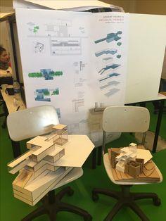 Architectural model (social center)