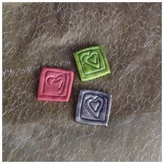 Hand Made Air Dry Clay Decorative Tile Two by FfenestFfrynt
