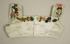 Bodice  Date:     1804–14 Culture:     probably British Medium:     silk, cotton