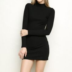 Brandy Melville back turtleneck sweater dress. Bought from another user but doesn't fit me :( I was told that it was worn once but the tag fell off. In great condition! Asking what I paid for it. Brandy Melville Dresses