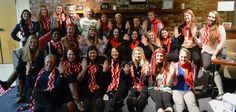 Look at the lovely scarves made by the Alpha Phi Sorority sisters at the University of Puget Sound They had a knit-in at the end of March and made 100 scarves for WomenHeart! (April 2014)