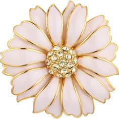 Russian Imperial Daisy Pin - The Met Store -  The Museum's Russian Imperial Flower jewelry suite, including this charming daisy pin, is based on individual flowers in the Basket of Flowers Egg created by master jeweler Peter Carl Fabergé (Russian, 1846–1920).