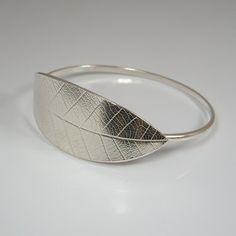 Sterling Silver Leaf Bangle £105.00