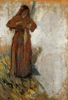 Woman with Loose Red Hair by Edgar Degas