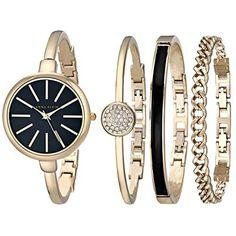 Anne Klein Women s Gold-Tone Watch and Bracelet Set a62fbbe2e0