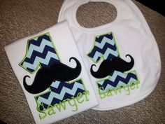 Personalized Mustache 1st Birthday Onesie or Tshirt by babymodern, $39.45