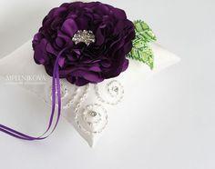 """Купить Подушечка для колец """"Виола"""" - фиолетовый, свадебные аксессуары, аксессуары для свадьбы, аксессуары на свадьбу, для свадьбы"""