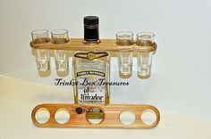Another shot glass holder. This one holds 4 shot glasses.https://www.facebook.com/trinketboxtreausres