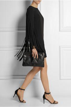 DKNY Fringed crepe mini dress £345