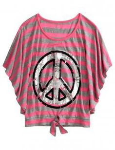 Justice Clothes for Girls Outlet | Girls Clothing | Short Sleeve | Striped Graphic Circle Top | Shop ...