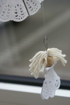 Use the most delicate materials to create a sweet little angel craft that you can't help but adore.