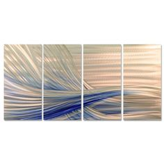 Ash Carl 'Blue Current' Metal Wall Art | Overstock.com Shopping - The Best Deals on Metal Art