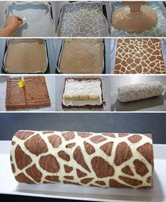 Giraffe Swiss Roll Recipe