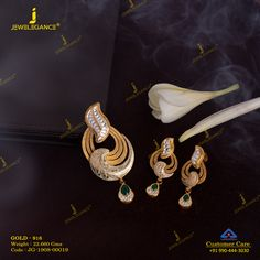 Get in touch with us on 990 444 3030 Gold Ring Designs, Gold Earrings Designs, Gold Jewellery Design, Gold Jewelry, Womens Jewelry Rings, Women Jewelry, Pendant Set, Diamond Pendant, Gold Pendant