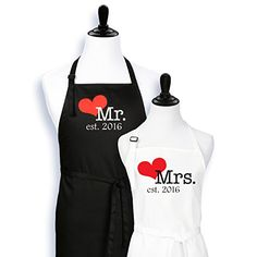 Mr. And Mrs. Aprons Est. 2016 with Heart Wedding Gift for... https://www.amazon.com/dp/B01E7RV6TK/ref=cm_sw_r_pi_dp_x_b5wrybT7YC4M0
